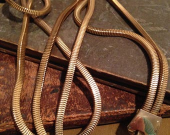 Vintage Double Strand Snake Chain Necklace