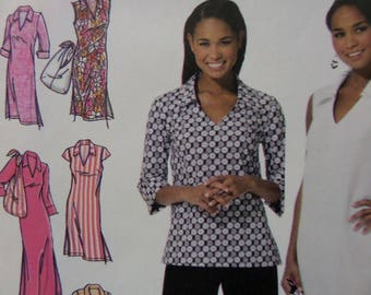 PULLOVER DRESS Pattern • Simplicity 4632 • Miss 10-18 • Tunic & Capri Pants • Hobo Bag • Sewing Patterns • Modern Patterns • WhiletheCatNaps
