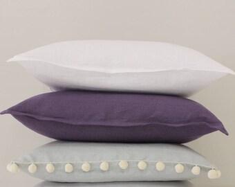 White linen decorative pillow cover, White pillow cover, White throw pillow, White linen cushion, White accent pillow, 20 x 20, Linen pillow
