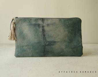 Travel pouch. bag divider. passport ticket organizer. cosmetic pouch. wallet linen  purse. Clutch bag. Bag in bag.