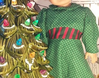 18 Inch Doll Christmas Dress with Plaid Belt