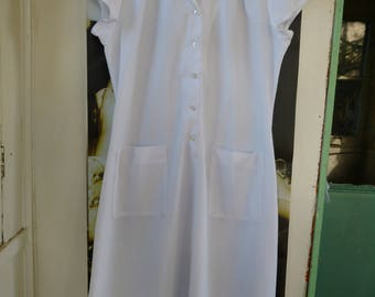 Vintage 1960s Nurse Uniform Dress Halloween Costume La Cross Professional Uniforms Hospital Nursing Home Theatre Film Wardrobe White Pockets