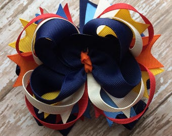 CLEARANCE M2M Made to Match Eleanor Rose School Surprise safari girls boutique style hair bow