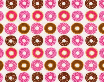Suzy's Minis 2 Donuts in Sweet, Suzy Ultman, Robert Kaufman Fabrics, 100% Cotton Fabric, ASD-17217-287 SWEET