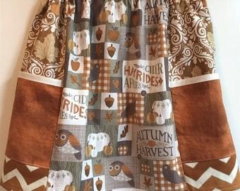 Fall Harvest   big pocket  skirt   (2T, 3T, 4T, 5T, 6, 7, 8)