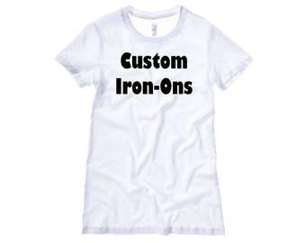 Custom Iron On Etsy - Custom vinyl decals decals for shirts