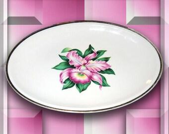 "Paden City Pottery 11-3/4 x 8"" Modern Orchid Platter"
