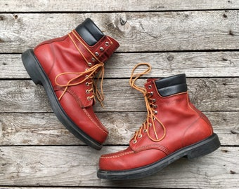 10 B | Men's Rubberneck Moc Toe Red Wing Work Boots