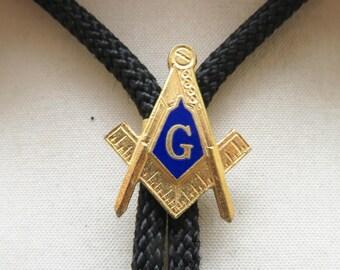 Vintage Masonic Emblem Bolo Tie