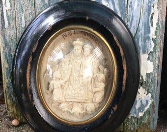 1880s French Meerschaum Religious Relic