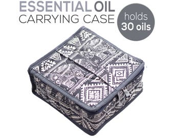Essential Oil Carrying Case | Large Travel Storage Bag to Carry 30 Bottles 15ml & 5ml Oils | doTERRA Young Living Accessories - Bags - Cases