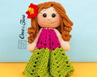 Mya the Hawaiian Girl Lovey / Security Blanket - PDF Crochet Pattern - Instant Download - Blankie Baby Blanket