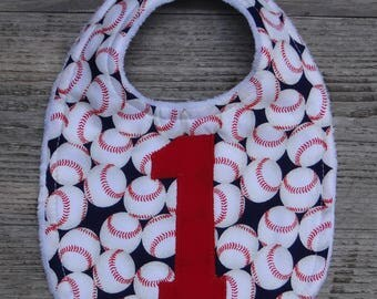 Boys First Birthday Bib ~ Baseball 1st Birthday Bib ~ Number One Baseball Bib ~ Cake Smash Bib ~ Baseball 1st Birthday Bib