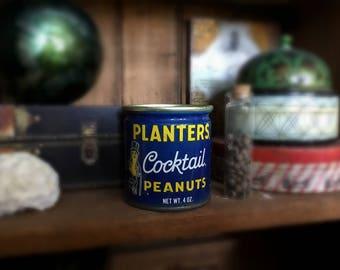 Vintage Planters Cocktail Peanuts Can Salvaged Organizer Pencil Holder Desk Storage