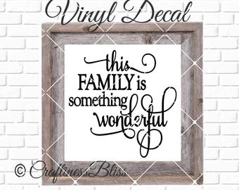 DIY The Love of a Family is Life's Greatest Blessing Vinyl Decal ~ Glass Block ~ Car Decal ~ Mirror ~ Ceramic Tile ~ Computer