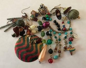 Earring Jewelry Lot | Single Earring Lot | Destash Lot | Junk Jewelry | Earring Lot | Craft Lot | Repair Lot | Jewelry Parts | Craft Earring