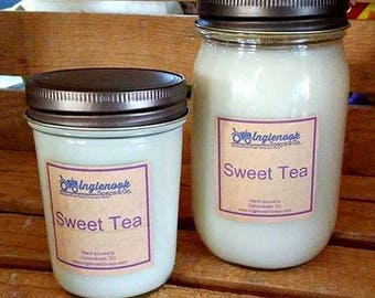 Sweet Tea 8 or 16 ounce Soy Candle Inglenook Soaps Home Scents Home Goods