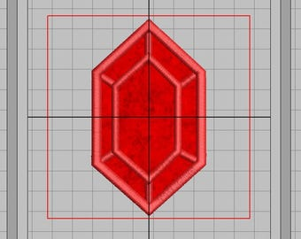 Zelda Machine Embroidery Applique Design - Single Rupee 4x4