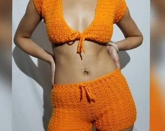 Crochet short set