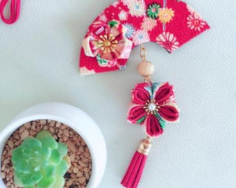 Car Mirror Hanger,Flower hanging decoration, Hanging ornament, Floral gift, fabric Flower,kanzashi tusmami,Rearview Car Mirror Charm