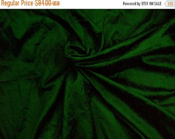 15% off on Wholesale fabric 6 yards of 100 Percentpure dupioni silk in emerald green