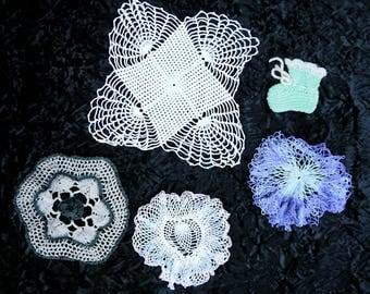 sea crochet lace lot