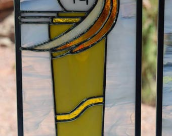 Eagle Feather Maiden 3 Stained Glass Panel