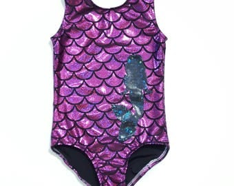Mermaid Leotard - Girls Leotard - Gymnastics  Leotard - Ballet Leotard - Tumbling Leotard - Girls Sparkle Leotard - Dance Leotard