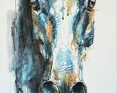 Commande d'une peinture d'une tête de cheval