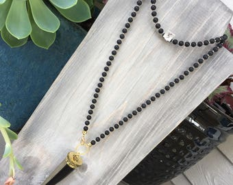 Wrap Necklace with Horn