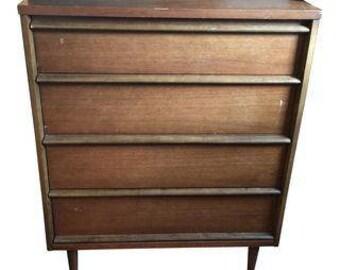 Mid-Century Wooden Dresser. Interior Design. Fig House Vintage. MCM. Mid Century dresser