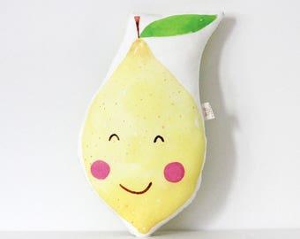 Lemon cushion Lemon Pillow Fruit Cushion Kawaii Lemon Cushion Fruit Plush Tropical Throw Pillow