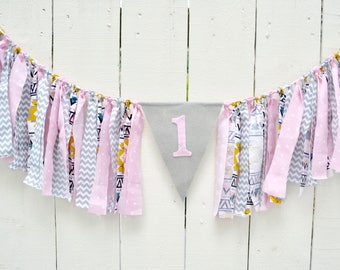Wild One Birthday Banner - Boho Birthday -  1st birthday girl - birthday banner - Wild One Birthday - Girl Boho Birthday - Tribal Birthday