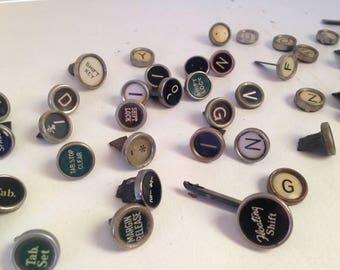 Vintage Typewriter Keys - GENUINE Vintage Keys,  Random Keys, Set of 50