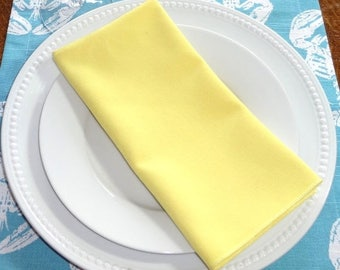 FALL is COMING SALE Sale Yellow Napkin Table Decor Dining Room Size 16x16 17x17 Napkins