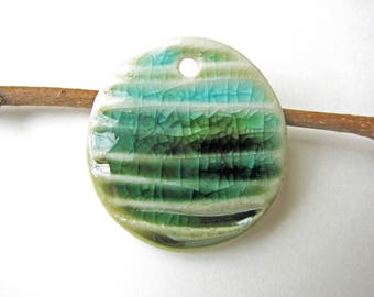 Green Meadow Blue Sky Pendant Small Size
