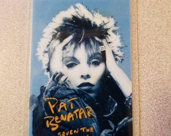Original Pat Benatar Seven The Hard Way Tour 1986 Laminated Pass