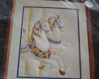 JANLYNN  Monarch Horizans Carousel Horses Candlewicking Kit CR150.