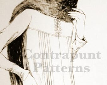 1920s dress pattern. Nice and comfortable, with cool pleated details.