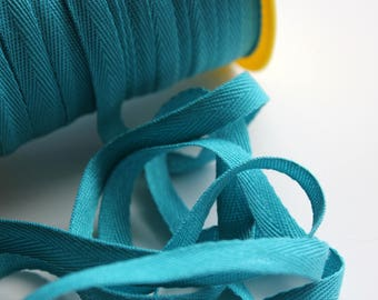 """3/8"""" Polyester Twill Tape - Turquoise - 5 yards"""