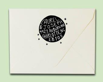 New Moon Address Stamp