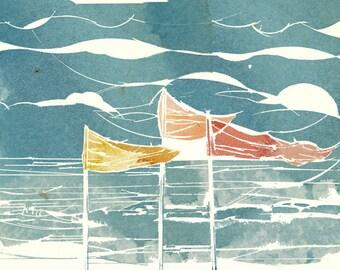 Wind&Flags _  ArtPrint