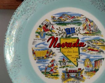 Nevada State Travel Souvenir Decorative Plate