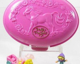1995 Vintage Polly Pocket Palomino Pony Bluebird Toys (37465)