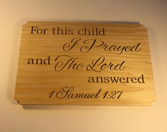 Christian Wall Art - Scroll Saw Sign - Bible Verse Sign - New Mother Gift - Nursery Decor  - Baby Shower Gift- New Parent Gift