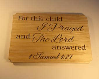 Bible Verse Sign - Words on Wood - Wood Signs Family - Wood Signs Quote - Scripture Wall Art - New Parent Gift - Church Decor - Christianity