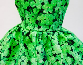 Lucky Clovers, St. Patrick's Day Sleeveless Dress for Your 18 Inch Doll E