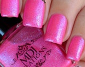 New! Be Brave from Woman of God trio Indie Nail Polish chromatic color shift shimmer hot pink