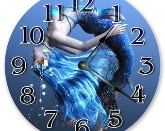 "10.5"" Mermaid Under Sea - Large 10.5"" Wall Clock - Home Décor Clock - 3364"