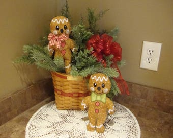 Christmas Gingerbread Dolls  Boy Gingerbread Girl Gingerbread Decorations House Decor Grannies Embroidery Christmas Decoration